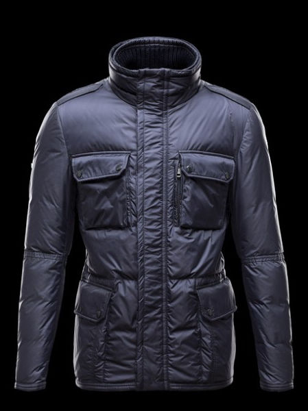 Moncler Men's Down Jacket Blue Amazzone Parka