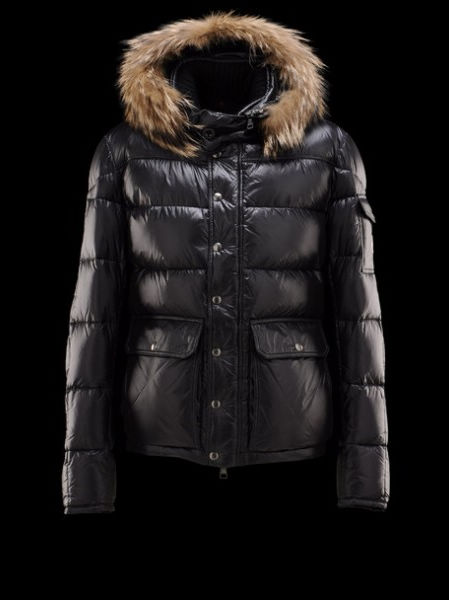 Moncler Men Jacket Hoody Hubert Black Coat