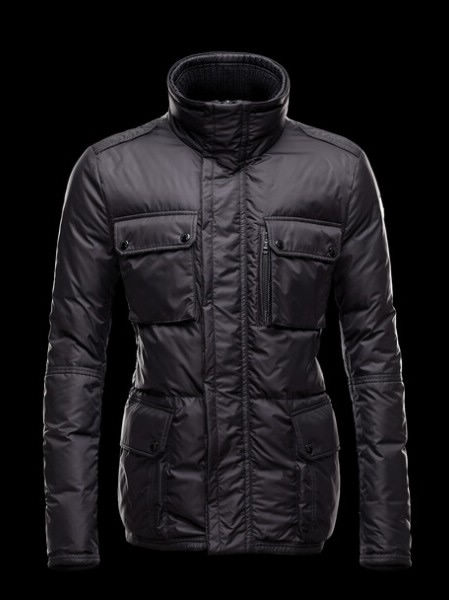 Moncler Men Down Jacket Black Amazzone Parka