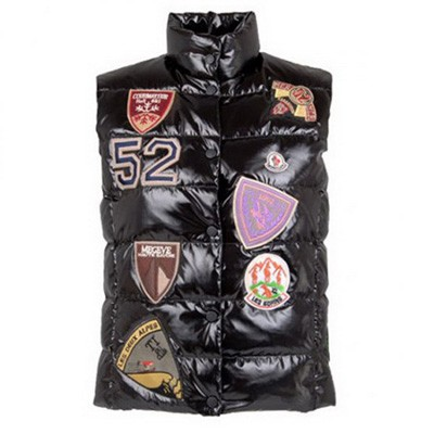 Moncler Down Black Vest Men