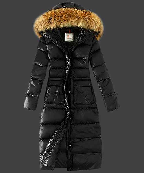 Moncler Down Coat Featured Women Slim Windproof Black