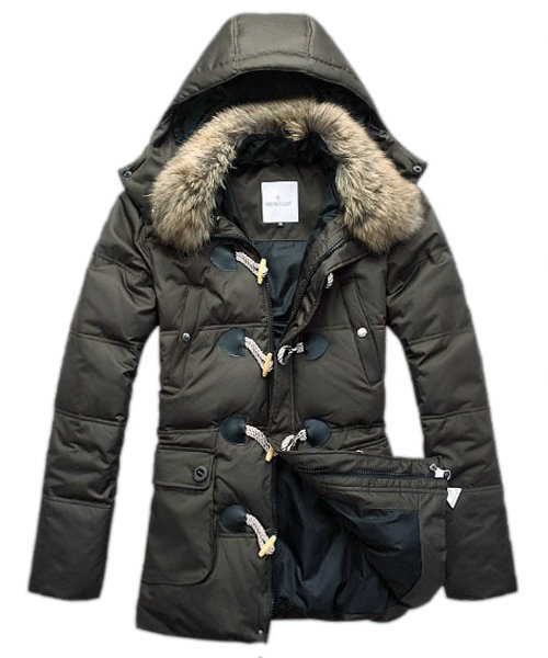 Moncler Down Coat Men Elegance Army Green