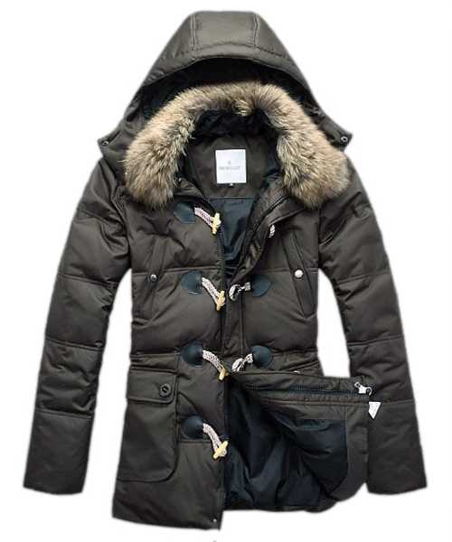 Moncler Down Coat Mens Elegance Army Green