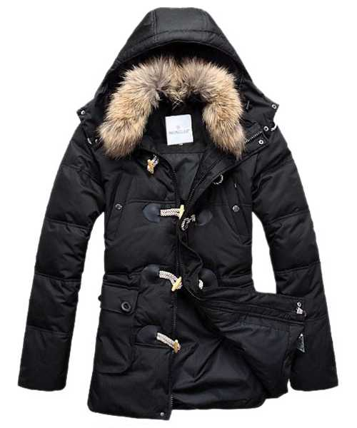 Moncler Down Coat Mens Elegance Black
