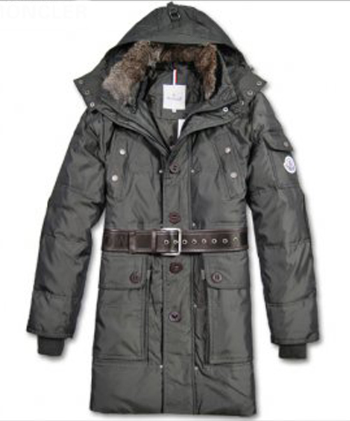 Moncler Down Coats Mens Mid-Length Hooded Grey