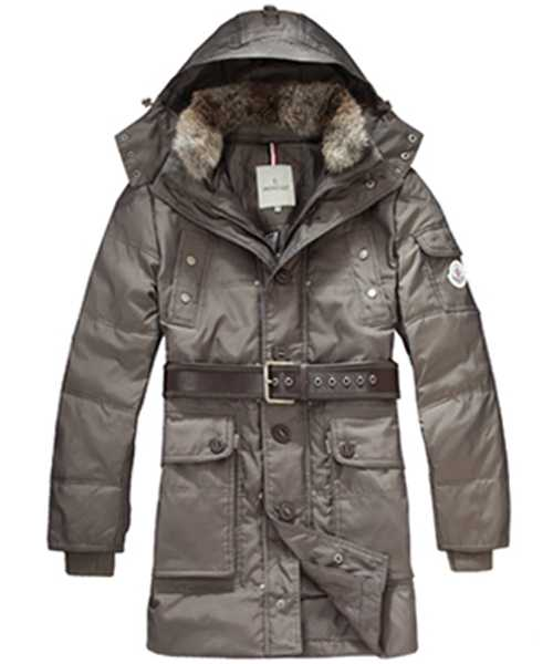 Moncler Down Coats Mens Mid Length Hooded Silver