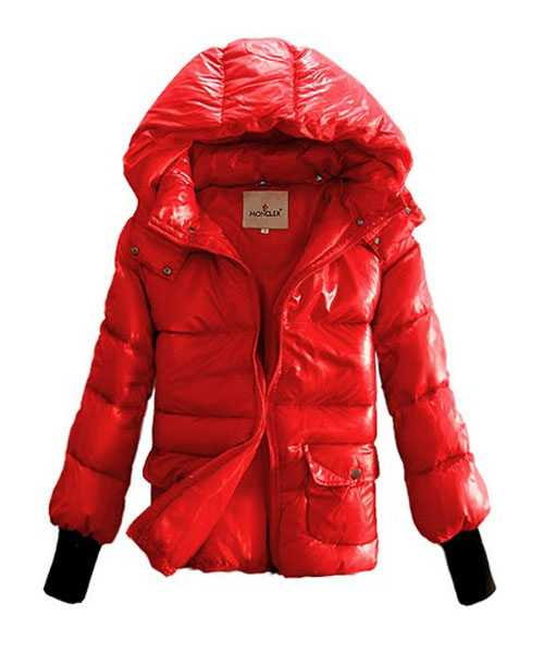 Moncler Down Jackets Women Rib Long Sleeve Shirt Red