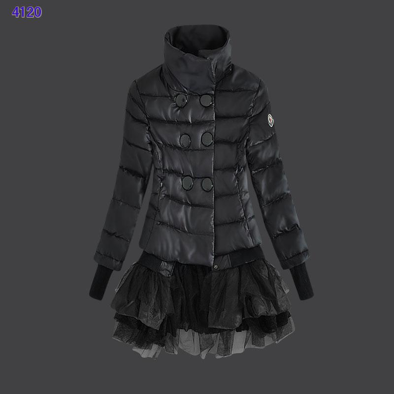 Moncler Down Jackets Womens Lace Black