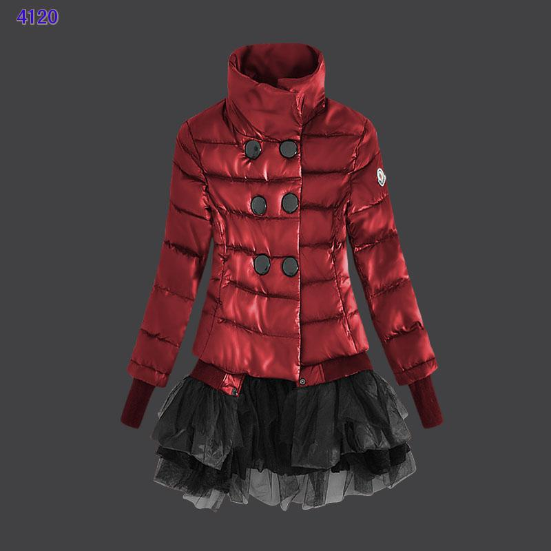 Moncler Down Jackets Womens Lace Red