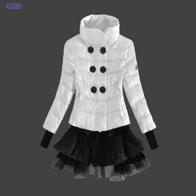Moncler Down Jackets Womens Lace White