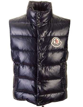 Moncler Down Unisex Vest Quilted Warmer Body Navy