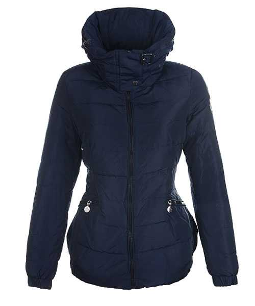 Moncler Epine Jackets For Women Windproof Collar Dark Blue