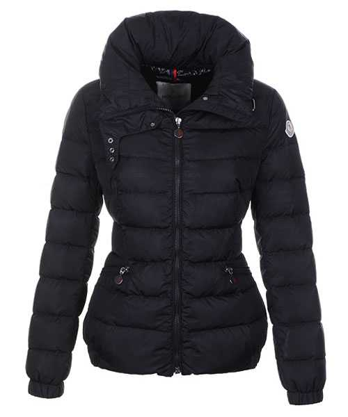 Moncler Epine Jackets For Women Windproof Collar Zip Black
