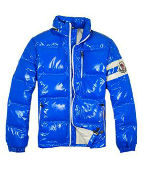 Moncler Eric Fashion Men Down Jackets Short Blue