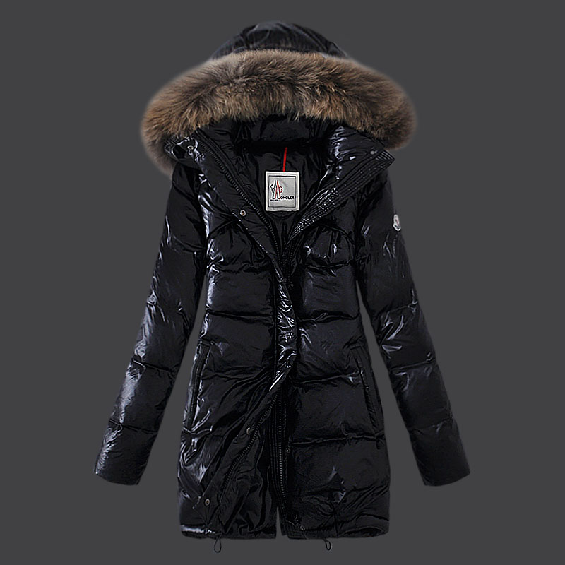 Moncler Euramerican Down Coats Womens Black