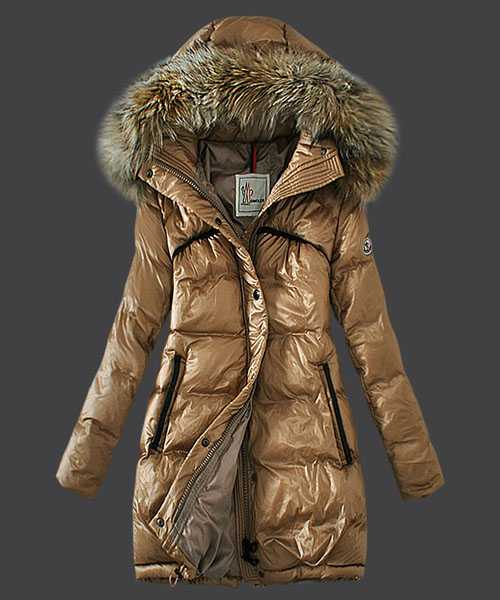 Moncler Euramerican Style Down Coats Women Light Tan
