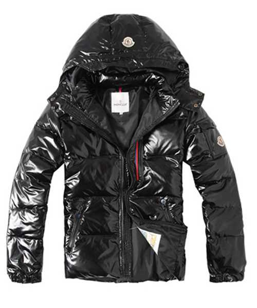 Moncler Euramerican Style Mens Down Jackets With Hood Black