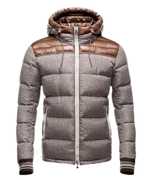 Moncler Eusebe Fashion Mens Jacket Down Short Brown
