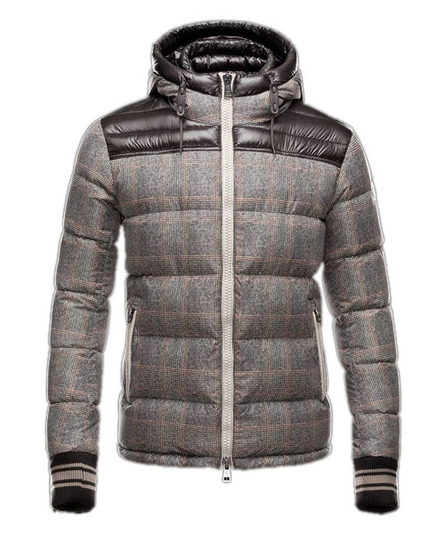 Moncler Eusebe Fashion Mens Jacket Down Short Coffee
