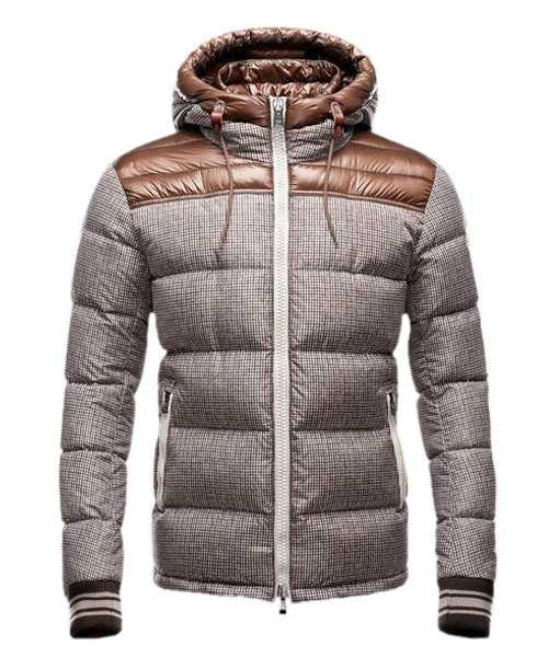 Moncler Eusebe Fashion Mens Jackets Down Short Brown