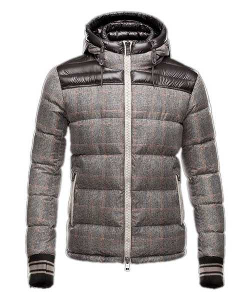 Moncler Eusebe Fashion Mens Jackets Down Short Coffee