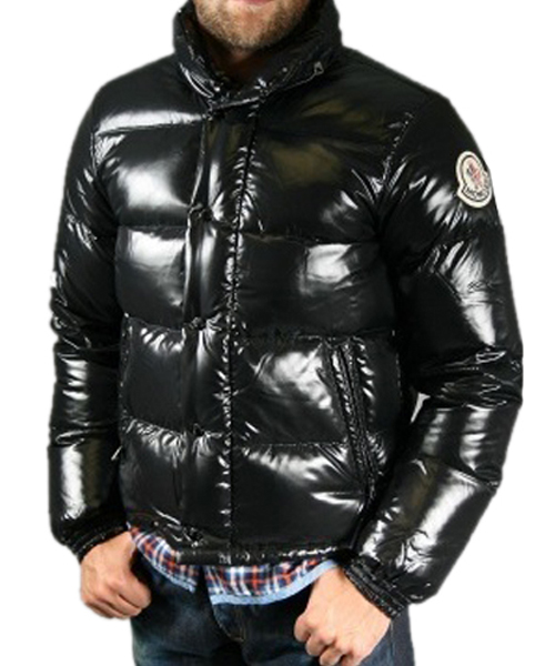 Moncler Everest Classic Winter Men Down Jacket Zip Collar Black