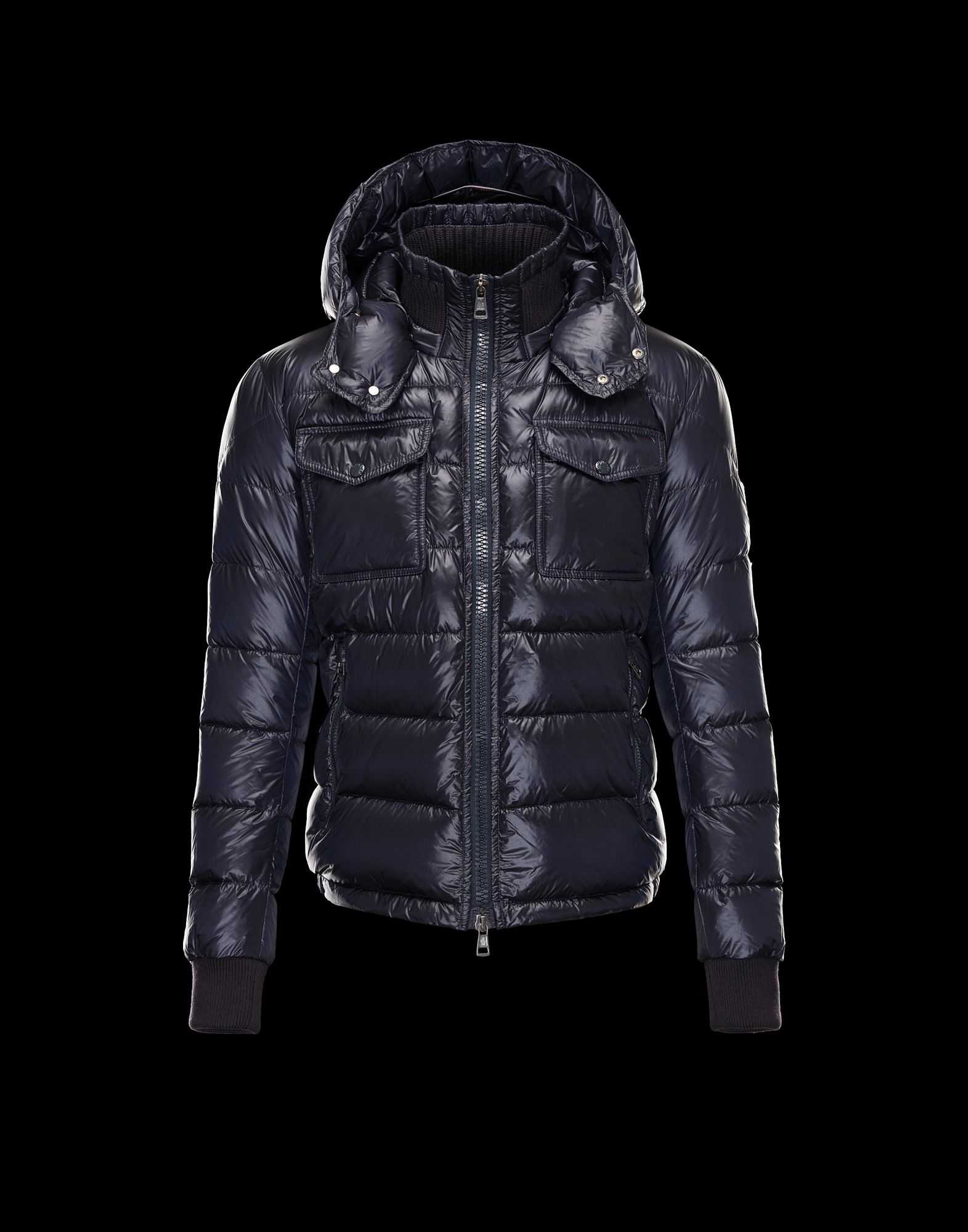 Moncler FEDOR Featured Down Jackets Mens Blue
