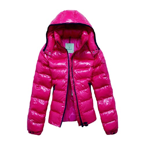 Moncler Fashion Bady Quilted Hooded Down Pink Jacket Women