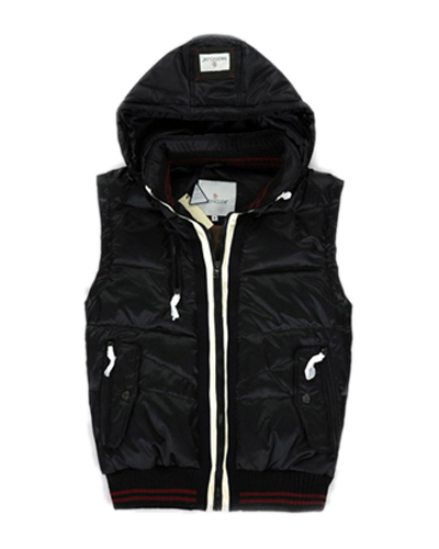 Moncler Fashion Down Men Vests With Hat Black
