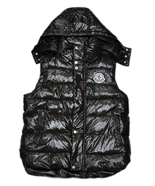 Moncler Fashion Down Vest Womens Button Hat Black