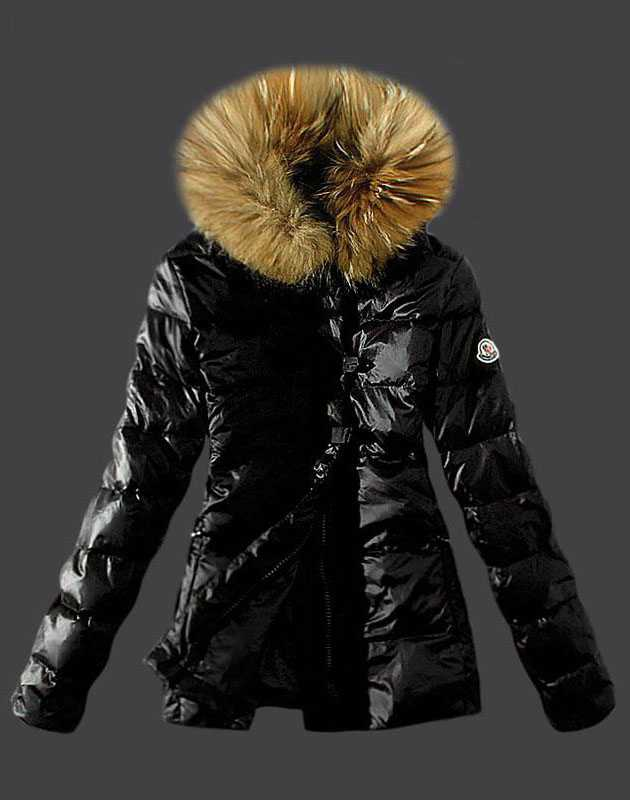 Moncler Fashion Down Women Jacket Fur Collar Black