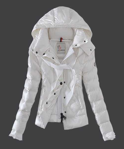 Moncler Fashion Leisure Women Down Jackets White