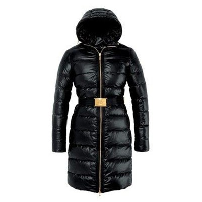 Moncler Fashion Nantes Hooded Down Black Coat Women