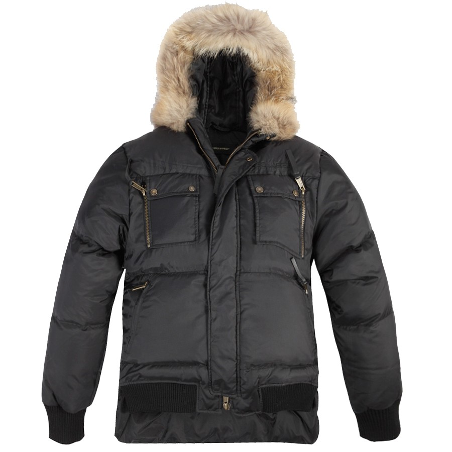 Moncler Fashion Quilted Down Black Jacket Men
