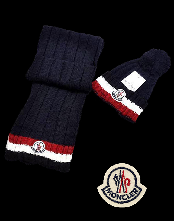 Moncler Fashion Royal Blue Scarf & Cap