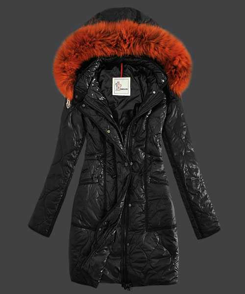 Moncler Fashion Women Down Coats Windproof Black