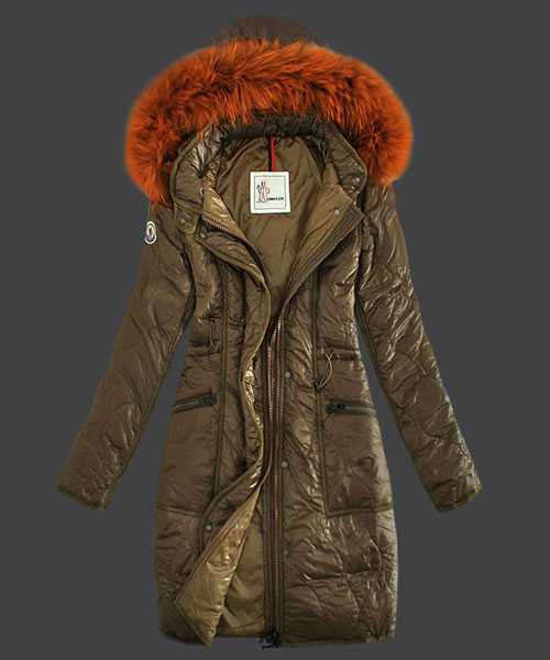 Moncler Fashion Women Down Coats Windproof Khaki