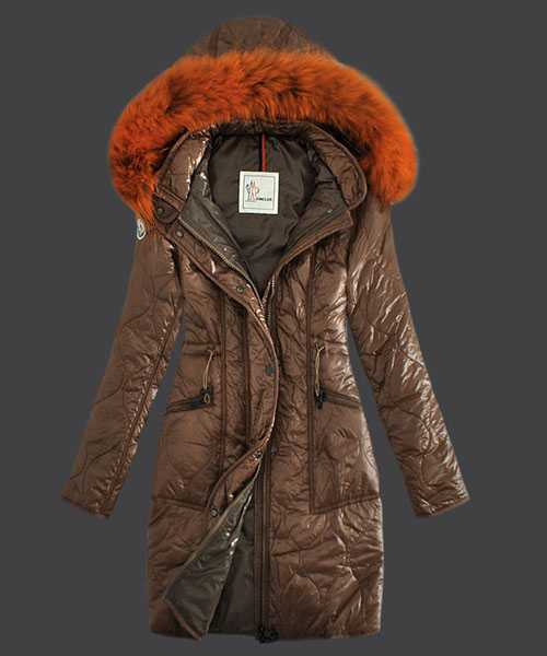 Moncler Fashion Women Down Coats Windproof Light Coffee