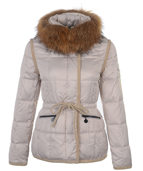 Moncler Fashion Women Jacket Down Short Apricot