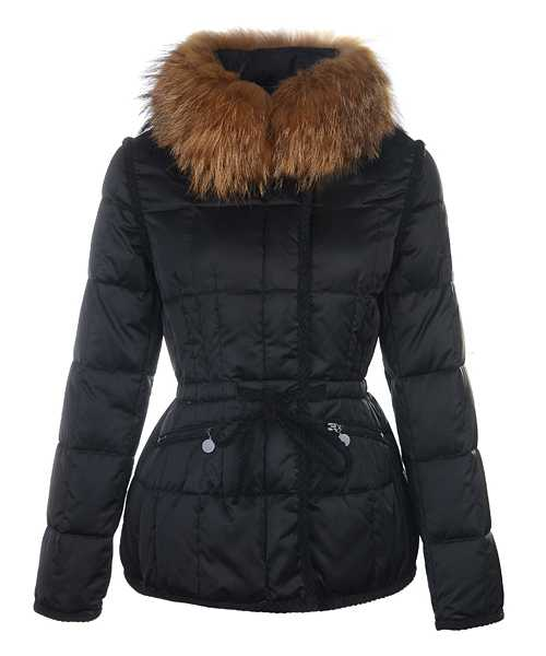 Moncler Fashion Women Jackets Down Short Black