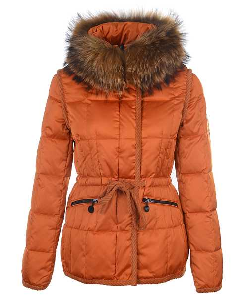Moncler Fashion Women Jackets Down Short Orange