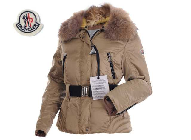 Moncler Faucon Women Down Jackets Zip With Apricot