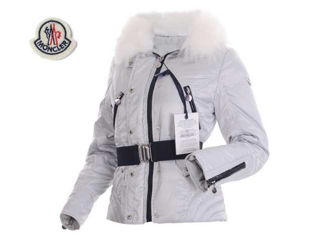 Moncler Faucon Women Down Jackets Zip With Grey