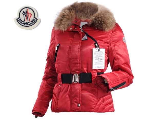 Moncler Faucon Women Down Jackets Zip With Red