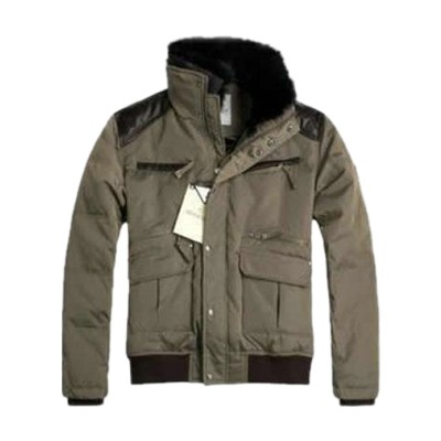Moncler Feather Short Down Sheepskin Jacket Men