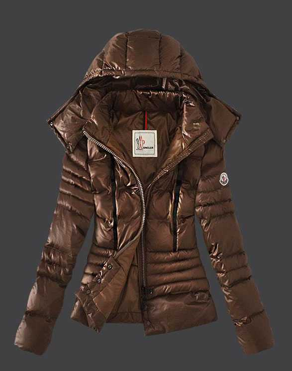 Moncler Featured Jacket Down For Womens Coffee