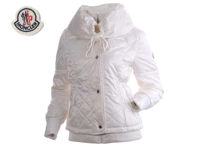 Moncler Featured Jackets Down For Women White