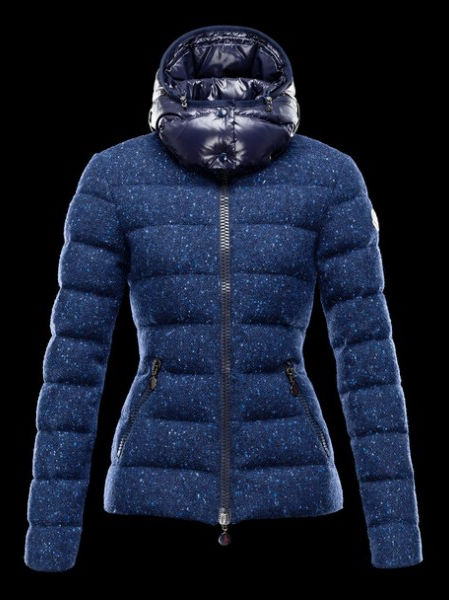 Moncler Women Down Jacket Astere Hoody Blue Parka
