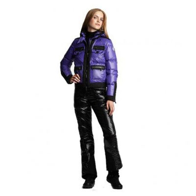 Moncler Fitted Down Purple Jacket Women