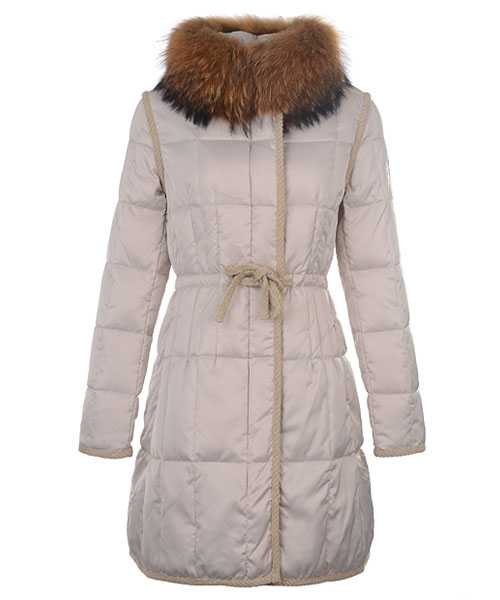 Moncler For Women Coat Euramerican Style Long Apricot